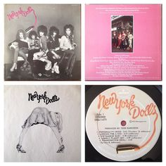 New York Dolls s/t first album US Mercury original 1973. Originals of this album have a hot pink rear sleeve as well as a custom inner and labels. The Dolls in some ways embody the spirit of punk more than any other band prior to 1976 except maybe the Troggs. The Velvets Stooges MC5 Bowie Roxy etc all were punky and influenced boat loads of future punks but all had something the Dolls didn't: they were really good. Love or hate the Dolls these guys are trash and I mean that in a kind tender…