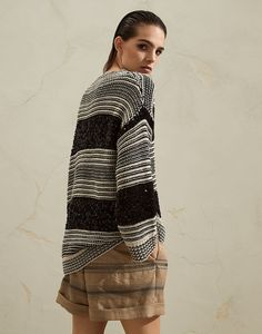Dazzling sweater (211MBA380600) for Woman | Brunello Cucinelli Pullover, Brunello Cucinelli, Online Boutiques, Knitwear, Ready To Wear, Sweaters For Women, Kimono Top, Vogue, How To Wear