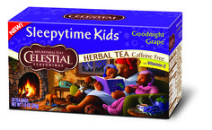 Tuck the family in for the night with our newest Sleepytime® herbal tea variety. #HotTeaMonth #CelestialHerbalTea http://www.celestialseasonings.com/products/herbal-teas/sleepytime-kids-goodnight-grape