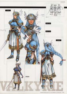 Libro de arte de Valkyrie Profile. Art book of Valkyrie Profile, Enix on PSX