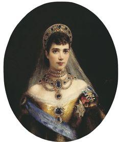Romanov Family Jewelry | Maria Feodrovna in spectacular array by Konstantin Makovsky (location ...