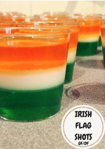 IRISH FLAG SHOTS – The Ketchup War Green Jello, Orange Jello, Irish Flag Shot, Best Spinach Dip, Soda Bread, Jello Shots, Non Alcoholic, Ketchup, Holiday Recipes