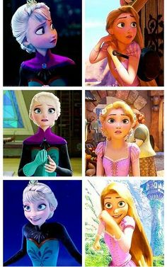 I like this one because I only really see Anna and Rapunzel comparisons.