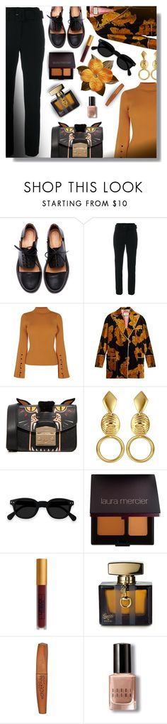 """""""Statement Shoes!"""" by sarguo ❤ liked on Polyvore featuring Minimarket, Theory, Gucci, Furla, Laura Mercier, Lipstick Queen, Rimmel, Bobbi Brown Cosmetics and untamedfashion"""