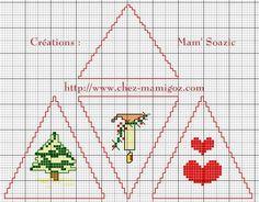( Grilles Gratuites ) Aujourd'hui, je vous propose de broder, avant Noël, une toute dernière Pyramide pour Sapin S'il ne vous reste un peu de temps, juste le temps d'un film... Tentez-la. Elle complétera à merveille votre déco de sapin. * Pour retrouvez...