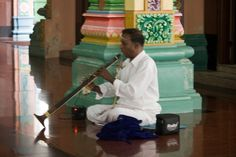 Music moment in the Sri Mahamariamman Temple is the oldest Hindu temple in Kuala Lumpur, Malaysia photo by Aili A.