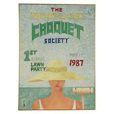 Vintage Maryland Croquet Society Framed Poster