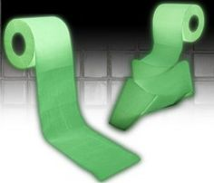 Glow in the dark toilet paper. Impossible to live without.