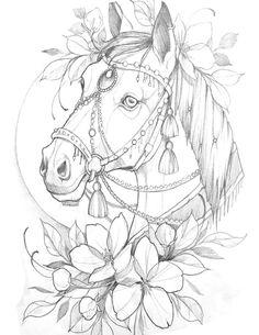 Retro Cartoons, Desenho Tattoo, Merry Christmas Card, Horse Art, Dog Art, Tattoo Drawings, New Tattoos, Blackwork, Tattoo Designs