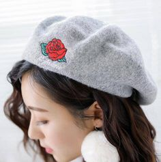 31dafa2b7 21 Best Top 10 embroidered beret hat for women images in 2017 | Hats ...