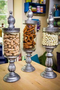 Craft Organization Diy Dollar Stores Apothecary Jars Ideas For 2019 Mason Jar Crafts, Bottle Crafts, Mason Jars, Candy Jars, Candy Dishes, Bottles And Jars, Glass Jars, Home Crafts, Diy Crafts