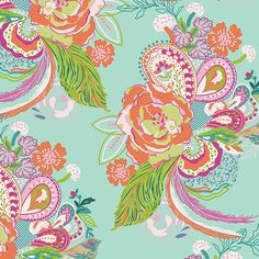 Hey, I found this really awesome Etsy listing at https://www.etsy.com/listing/216464425/aqua-pink-orange-and-purple-floral