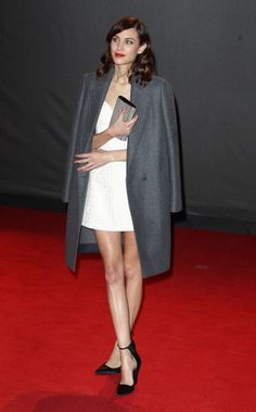 Alexa Chung attends the British Fashion Awards 2013 at London coliseum