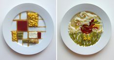 In this quirky series of photos titled Thanksgiving Special, San Francisco-based artist Hannah Rothstein imagines Thanksgiving dinners as plated by famous artists throughout history.
