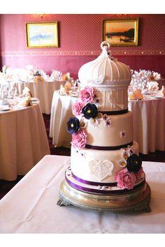 gâteau de mariage fleur vintage