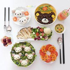 Rilakkumar & friends themed lunch by (@meba_sj)
