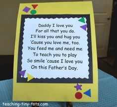 fathers day poem @ http://www.teaching-tiny-tots.com/toddler-activities-fathers-day-poem.html