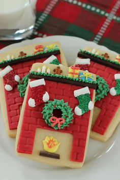 Christmas Fireplace Sugar cookies