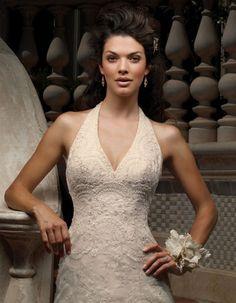 Halter Lace Wedding Dress