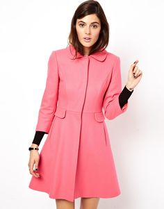 asos pink dolly coat.