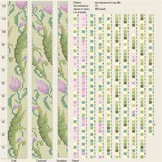 Все РукоТворчество: Схемы жгутов крючком из бисера