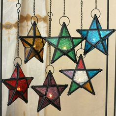 Top European style colored stars candle holder Morocco lamp candle holder home decoration wedding bar supplies - Cheap Candle Holders, Lantern Candle Holders, Candle Lanterns, Star Lanterns, Hurricane Candle, Hanging Candles, Hanging Lights, Ceiling Hanging, Moroccan Colors