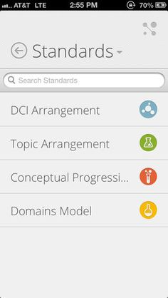 Next Generation Science Standards iPhone and iPad app - View the Next Generation Science Standards in one convenient FREE app! A great reference for teachers, parents, and students to easily read and understand the standards. Quickly find standards by various topic arrangements or keyword search.