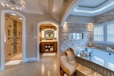 This awesome Bathroom nuance is an amazing touch with soft decor that make this Bathroom more comfortable.