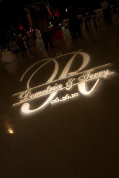 june 2010 wedding customized gobo from events rental in new orleans