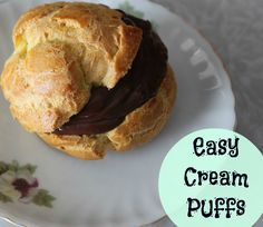 Easy Easter Dessert: Old Fashioned Cream Puffs Recipe ~ Lille Punkin'