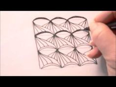 How to draw tanglepattern Skarf
