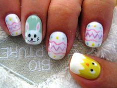 Easter Nails ♥ Source: Diamond Nails on Nail Art Gallery Nail Art Designs, Easter Nail Designs, Easter Nail Art, Nail Designs Spring, Spring Nail Art, Spring Nails, Cute Nails, Pretty Nails, Hair And Nails