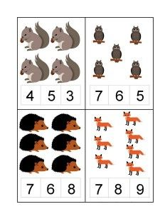 Forest animals math activities for preschoolers Montessori Math, Preschool Learning Activities, Toddler Learning, Preschool Worksheets, Kindergarten Math, Teaching Math, Preschool Activities, Math Numbers, Math Concepts