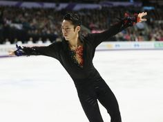 LONDON, ON - MARCH 15:  Daisuke Takahashi of Japan competes in the Mens Free Skating during the 2013 ISU World Figure Skating Championships at Budweiser Gardens on March 15, 2013 in London, Canada.