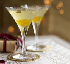 Bitter orange & cardamom martinis | BBC Good Food