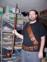 sewing a bandolier with a pattern Steampunk Diy, Steampunk Fashion, Tusken Raider, Mandalorian Armor, Leather Working, Raiders, Leather Craft, Costume Box, King Lear