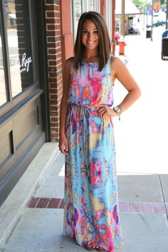 Lovely multi-colored maxi.