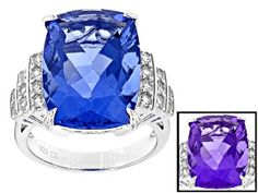 Enjoy exceptional value and unbeatable prices. Explore this Pre-Owned Blue Color Change Fluorite Sterling Silver Ring from JTV today. Ring Crafts, Blue Topaz Ring, Gemstone Colors, Stone Jewelry, Color Change, Pink Purple, Sterling Silver Rings, Jewelry Collection, Gemstones