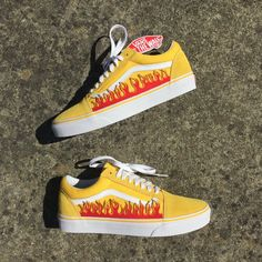 Vans Flame Custom Yellow — vintagewavez