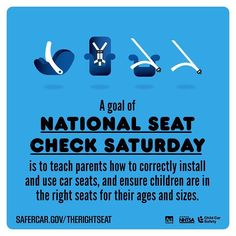 NATIONAL SEAT CHECK SATURDAY  http://ift.tt/1h6EsOQ #therightseat #pin
