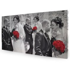 Colour splash canvas for wedding memories from £29