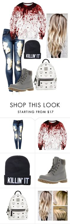 """Untitled #273"" by kayladallas7 on Polyvore featuring Timberland and MCM"