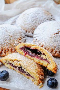 Medaglioni con marmellata di mirtilli biscotti veloci vickyart arte in cucina