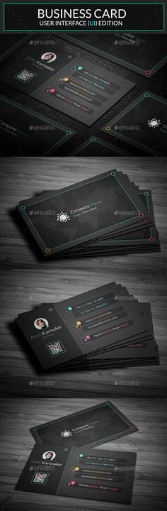 Business Card Template PSD #visitcard #design Download: http://graphicriver.net/item/business-card/13462033?ref=ksioks