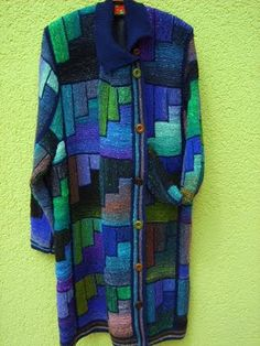Coat knit with Noro yarns. Wow wow wow
