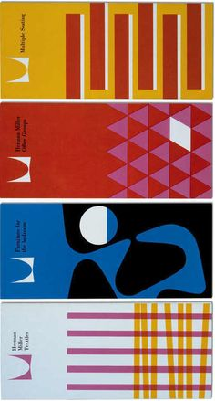 Brochures for Herman Miller Inc., 1960, Desing by Irving Harper, Don Ervin, Tony Zamora, Dick Schiffer, associates at George Nelson's office.