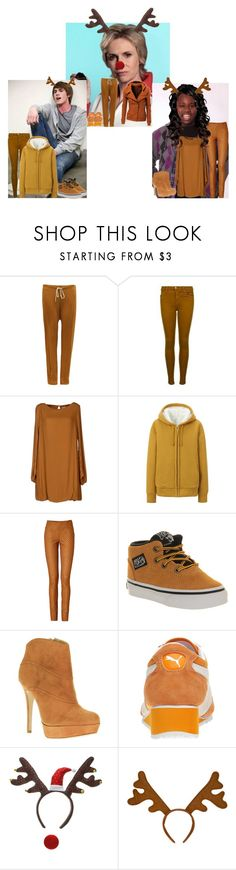 """Glee:Christmas:Ryder,Unique and Sue"" by glee2shake ❤ liked on Polyvore featuring Ryder, Joveeba, J Brand, Attic and Barn, Uniqlo, Missoni, Vans, Jorge Bischoff and Puma"