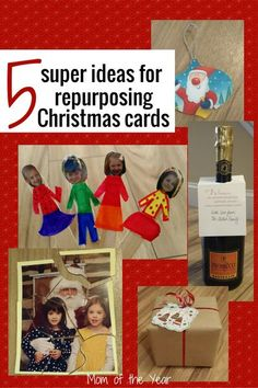 Repurposing Christmas cards is a green way to keep the holiday love of family and friends flowing throughout the year. Check out these 5 fun, easy DIY craft ideas (kid-friendly) here--I would never have thought of puppets!