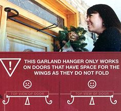 Adjustable EZ Christmas Garland Hanger For Single Doors 34  52 >>> To view further for this item, visit the image link.