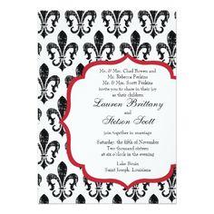 Wedding Invitation | New Orleans | Red